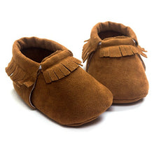 Load image into Gallery viewer, 13 COLORS PU Suede Leather Newborn Baby Boy Girl Baby Moccasins Moccs Shoes Bebe Fringe Soft Soled Non-slip Footwear Crib Shoes