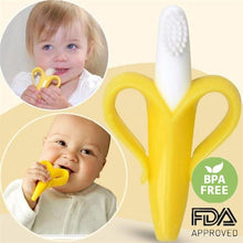 Load image into Gallery viewer, Baby Teether Toys Toddle Safe BPA Free Banana Teething Ring Silicone Chew Dental Care Toothbrush Nursing Beads Gift For Infant