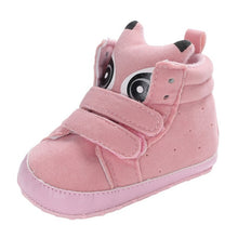 Load image into Gallery viewer, Baby Autumn Shoes Kid Boy Girl Fox Head Lace Cotton Cloth First Walker Anti-slip Soft Sole Toddler Sneaker 1 Pair
