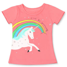 Load image into Gallery viewer, 2020 Summer Fashion Unisex Unicorn T-shirt Children Boys Short Sleeves White Tees Baby Kids Cotton Tops For Girls Clothes 3 8Y