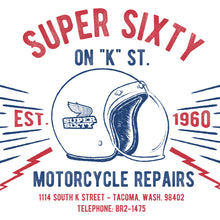 Load image into Gallery viewer, Super Sixty Motorcycle Repairs T-Shirt