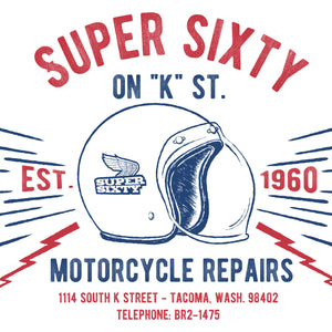 Super Sixty Motorcycle Repairs T-Shirt