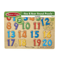 339 Numbers Sound Puzzle - 21 Pieces 3+