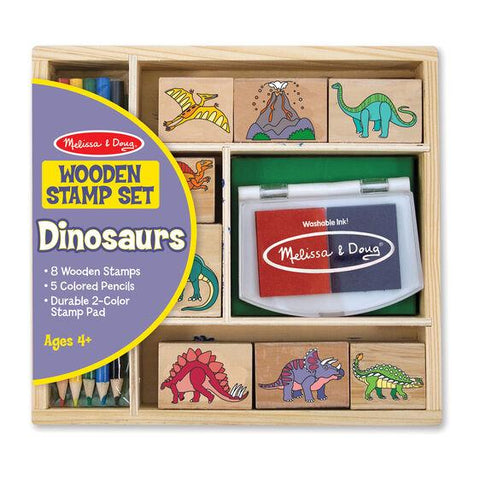 1633 Wooden Stamp Set - Dinosaurs 4+