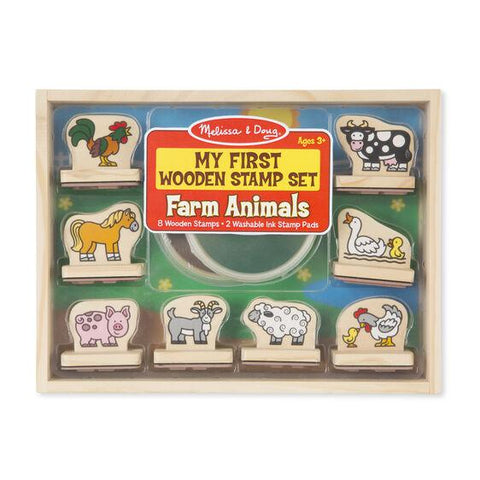 2390 My First Wooden Stamp Set - Farm Animals 3+