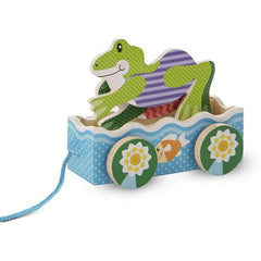 3615 First Play Friendly Frogs Pull Toy 18+months