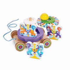 3616 First Play Carousel Pull Toy 18+months