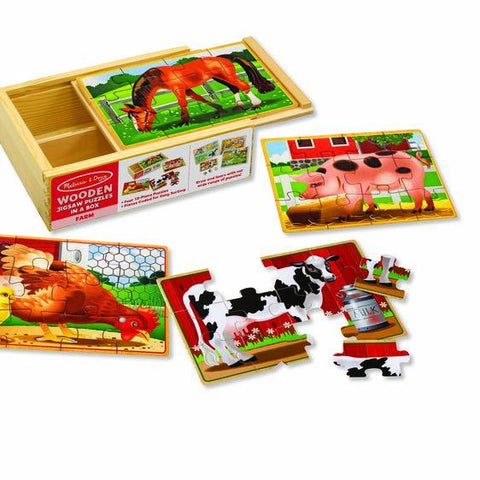 3793 Farm Animals Jigsaw Puzzles in a Box 3+