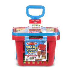 4073 Fill & Roll Grocery Basket Play Set 3+