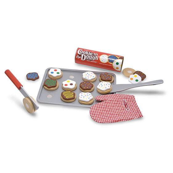 4074 Slice and Bake Cookie Set - Wooden Play Food 3+