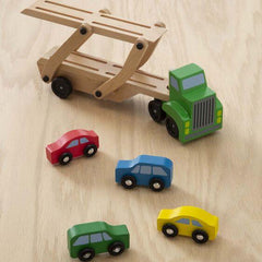 4096 Car Carrier Truck & Cars Wooden Toy Set 3+