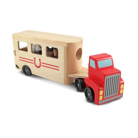 4097 Horse Carrier Wooden Vehicles Play Set 3+