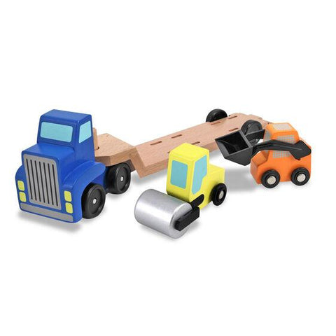 4550 Low Loader Wooden Vehicles Play Set 3+