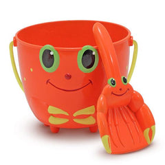 6400 Clicker Crab Pail and Shovel Sand Toys 2+