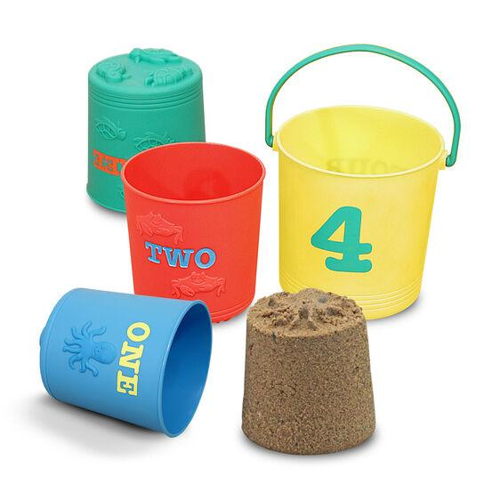 6424 Seaside Sidekicks Nesting Pails Sand Toys 2+