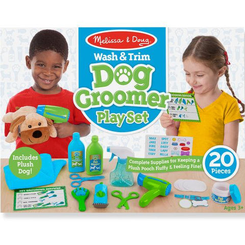 8568 Wash & Trim Dog Groomer Play Set 3+