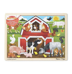 9061 Barnyard Buddies Wooden Jigsaw Puzzle - 24 Pieces 3+