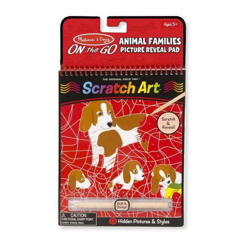 9145 On the Go Scratch Art: Animal Families Hidden-Picture Pad 5+