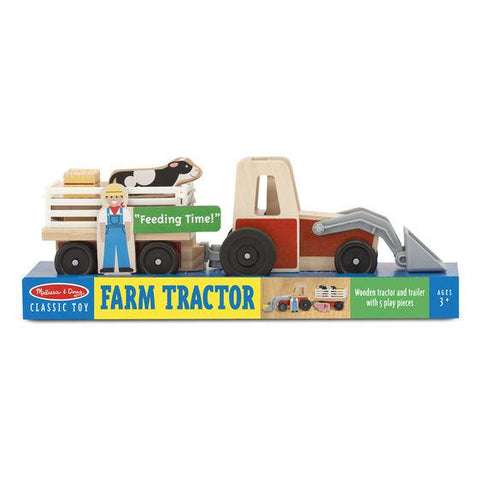 9392 Classic Wooden Farm Tractor Play Set 3+