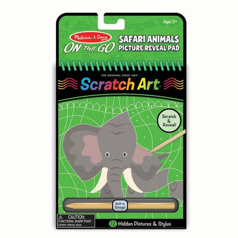 9419 On the Go Scratch Art: Hidden Picture Pad - Safari Animals 5+