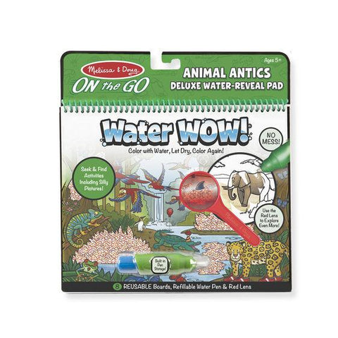 9463 Water Wow! Animal Antics Deluxe Water-Reveal Pad - On the Go Travel Activity 5+