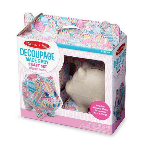 30106  Decoupage Made Easy - Piggy Bank 6+