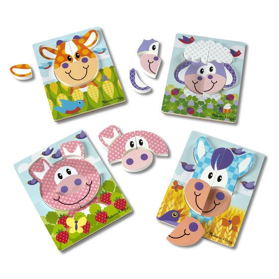 30132 First Play Jigsaw Puzzle Set Farm 2+