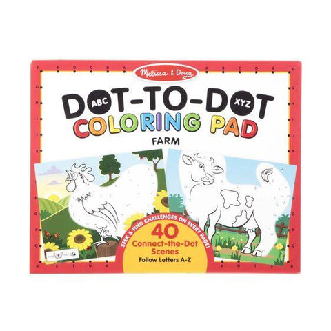 30260 ABC Dot-to-Dot Coloring Pad - Farm 4+