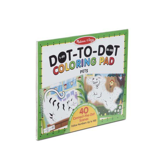 30261 123 Dot-to-Dot Coloring Pad - Pets 4+