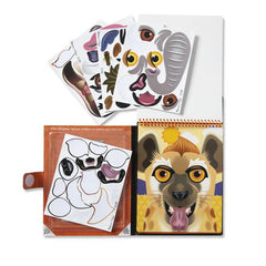 30510 Make-a-Face - Safari Reusable Sticker Pad - On the Go Travel 4+