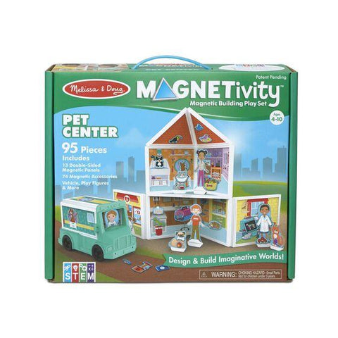 30651 Magnetivity Magnetic Building Play Set - Pet Center 4+