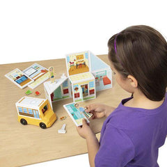 30657 Magnetivity Magnetic Building Play Set - School 4+