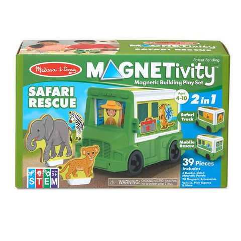 30666 Magnetivity Magnetic Building Play Set - Safari Rescue Truck 4+