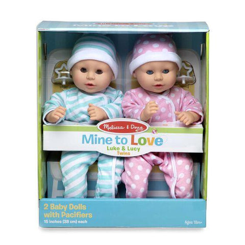 31711 Mine to Love Twins Luke & Lucy Dolls 3+
