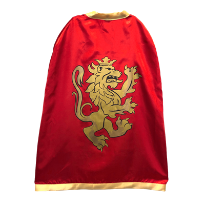 10351LT Knight cape red Noble Knight boys 3+
