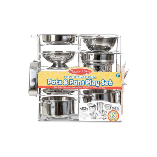 30340 Deluxe Stainless Steel Pots & Pans Play Set