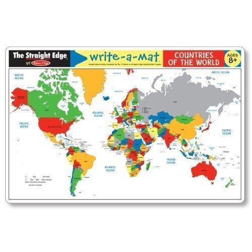 5042 Countries of the World Write-a-Mat (Bundle of 6)