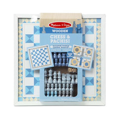 30390 Wooden Chess & Pachisi - BLUE