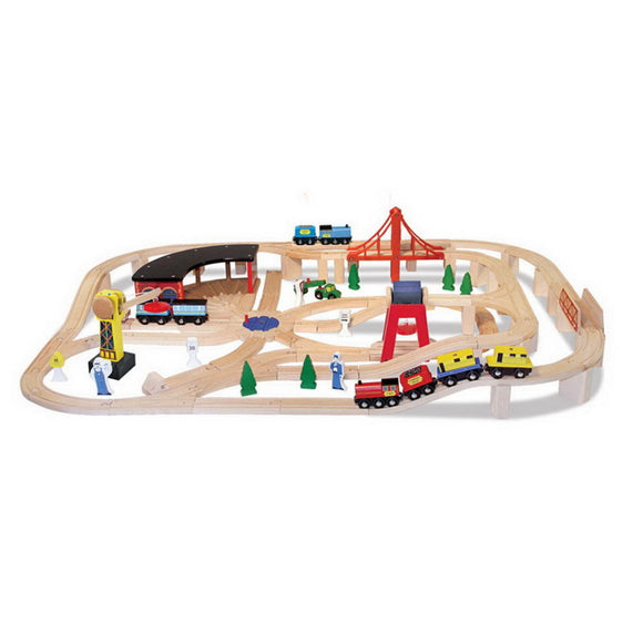701 Wooden Railway Set 3+
