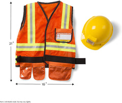 4837 Construction Worker Role Play Costume Set