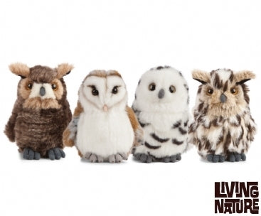 Living Nature Owls 4 Assorted - Living Nature - Fluffly Animals Owls 7+ Unisex