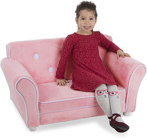 30242 Child's Sofa - Pink Plush Children's Furniture