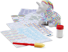 30115 Decoupage Made Easy Unicorn Paper Mache Craft Kit with Stickers 6+