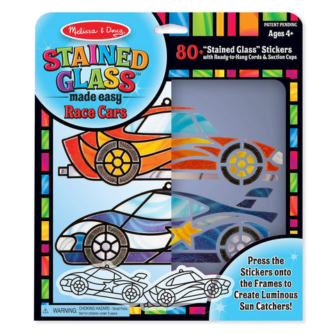 9293 Stained Glass Made Easy - Race Cars 4+