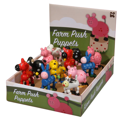 Farm Push Puppet