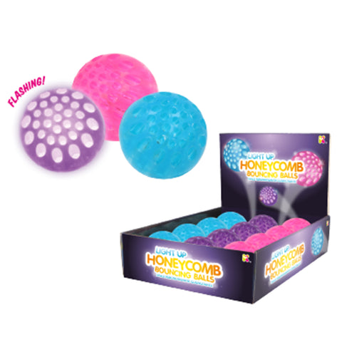 Light Up Honeycomb Bounce Balls