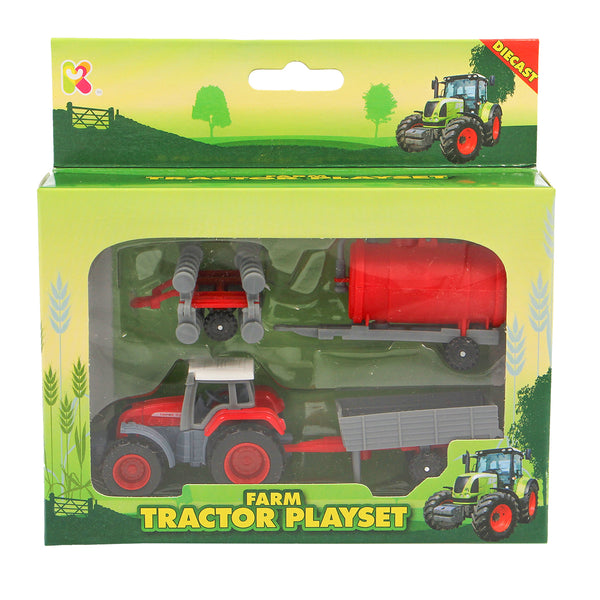 Mini Diecast Tractor Playset