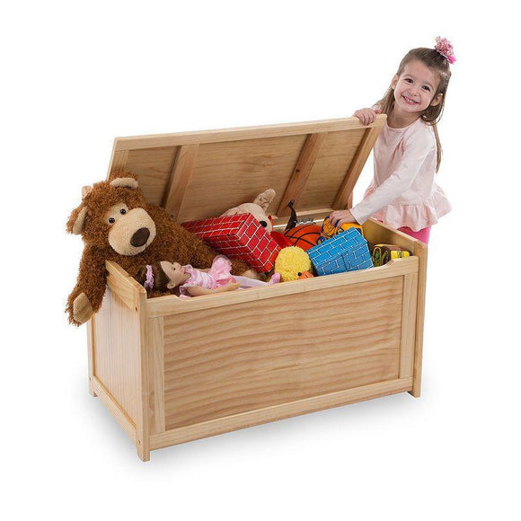 30227 Wooden Toy Chest - Honey 3+