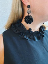 Load image into Gallery viewer, Black Sequin Earrings