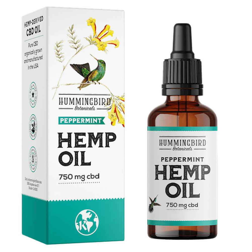 Full Spectrum Hemp Oil Peppermint - Hummingbird Botanicals
